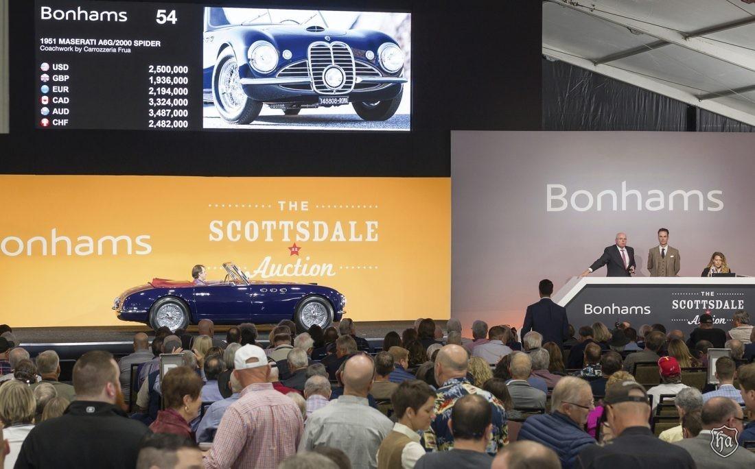 Bonhams _Scottsdale_2019_1951 Maserati_A6G_2000_Frua_Spider