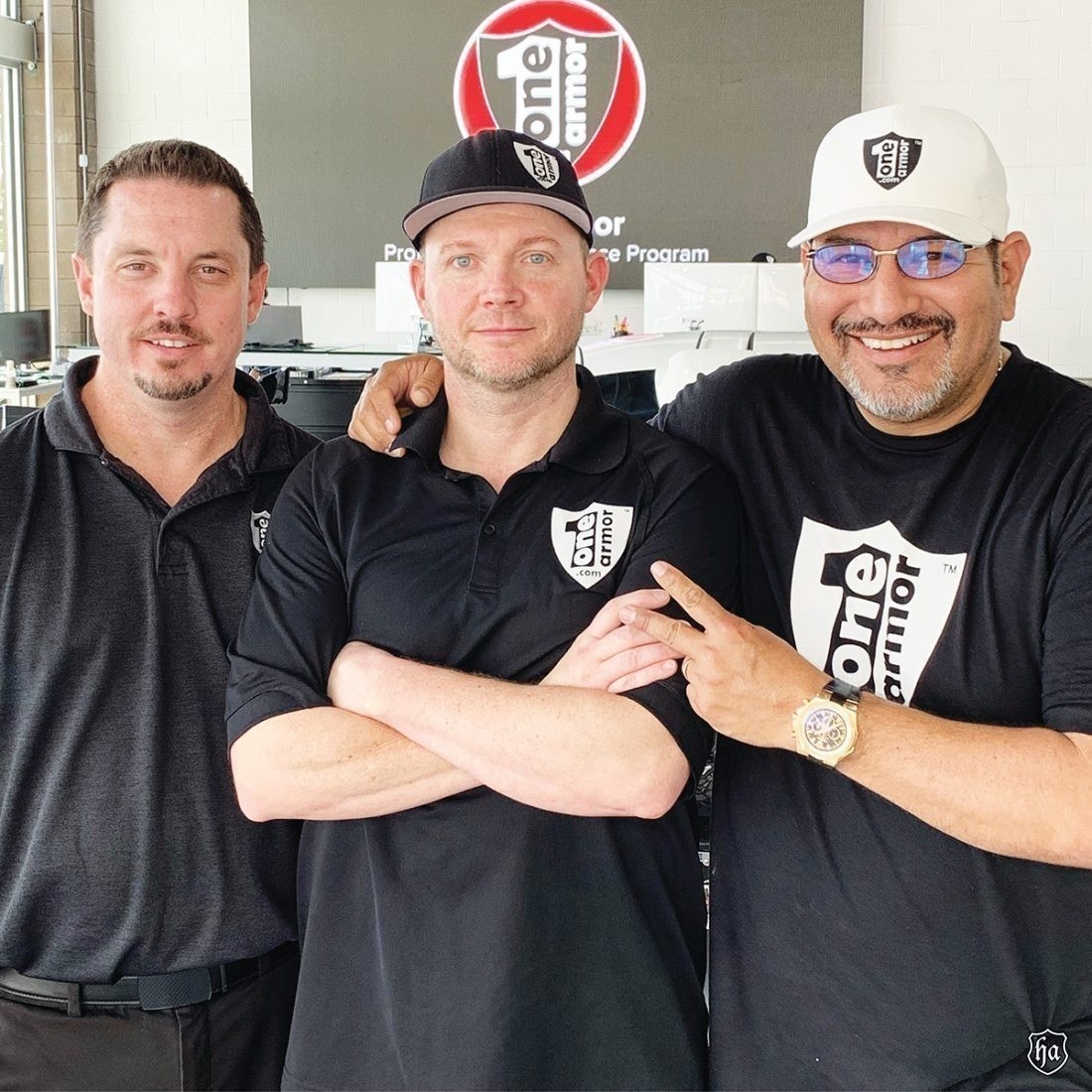 One_Armor_Kenny_Kelly_general_manager_Chris_West_Clear_bra_Hugh_Casiano_owner